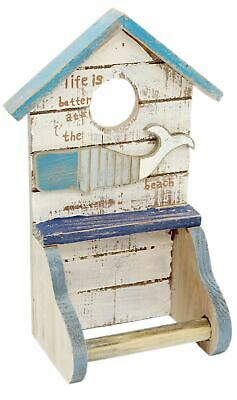 Lovely Shabby Chic Nautical Wooden Bathroom Toilet Loo Roll Holder