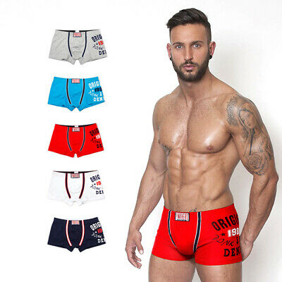 Men's Underwear Boxer Shorts Briefs Trunks U Bulge Pouch Underpants PINK HERO