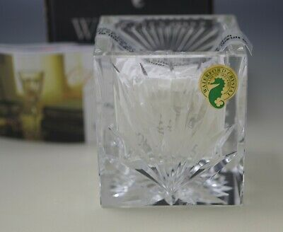 Waterford Crystal Ireland Christianity Votive Holder With Candle New In Box