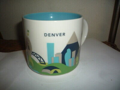 Starbucks Denver Colorado You Are Here 2013 14oz Ceramic Coffee Tea Cup Mug