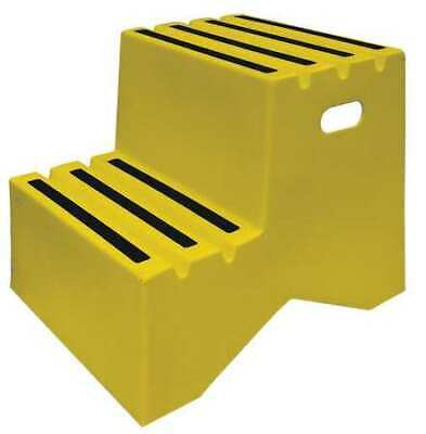 DPI ST217-14 2 Steps, Plastic Step Stand, 500 lb. Load Capacity, Yellow