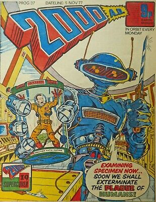 Classic 2000 AD Comic Prog/Issue Number 37 - Very Good Copy