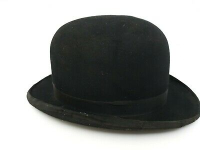 Mens Vntage Bowler Hat  Shabby Chic Charlie Chaplin style 56cm (sa1)