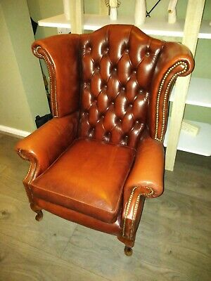 Chesterfield Nursing Chair Oxblood Red