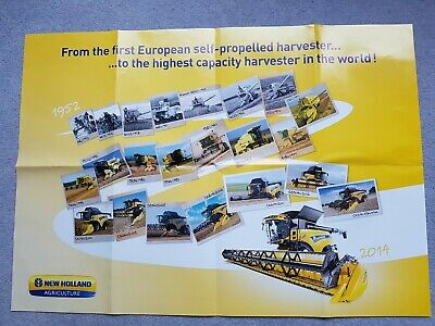 New Holland combine harvester poster.