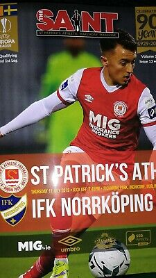 St Patrick's Athletic v IFK Norrkoping Europa League programme July 2019
