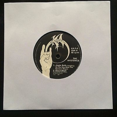 """The Hysterics ~ Five Tracks Of Laughter ~ 7"""" vinyl ~ 1981 ~  Novelty / Comedy"""