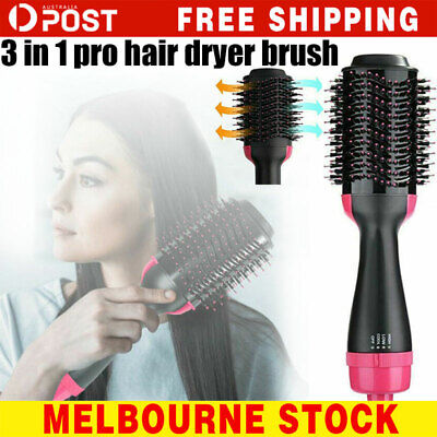One -Step Hair Dryer Comb and Volumizer Pro Brush Straightener Curler Styler AU