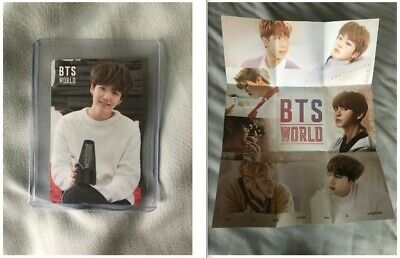 BTS Bangtan World OST Game Official Photocard PC Suga Yoongi and Group Poster