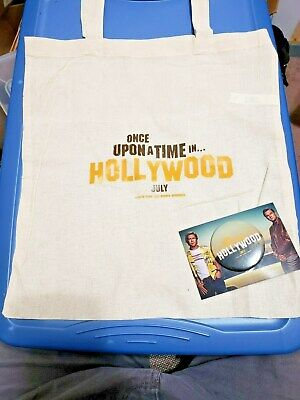 Once Upon Time In Hollywood (2019) SWAG Promo Tote Bag Button Set Tarantino