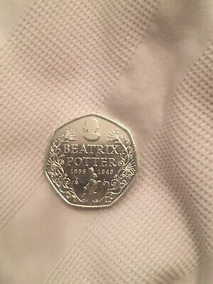 Beatrix Potter 50p Coin 2016 150th Anniversary Edition Circulated Fifty Pence