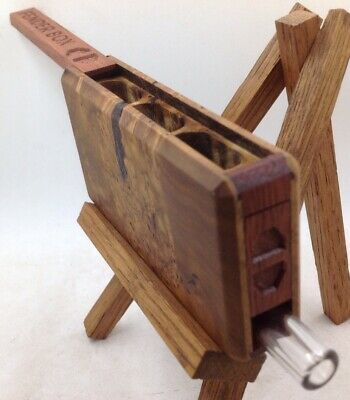 FENDER BOX 3 chamber (Stabilized Russian Olive Burl) One Hitter Box/Dugout