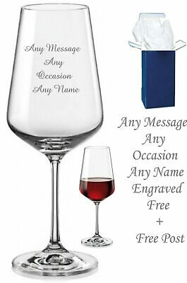 Personalised Gifts Engraved Wine Glass Xmas Wedding Leaving Birthday Gift W/ Box