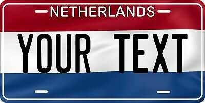 Netherlands Flag License Plate Personalized Car Auto Bike Motorcycle Custom Tag