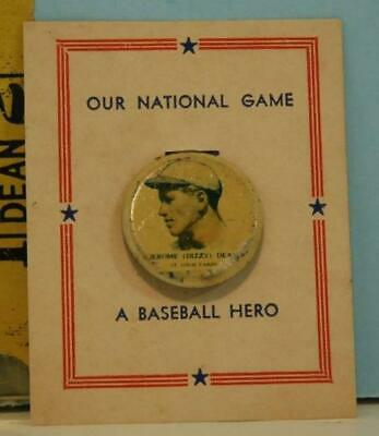 "1938 PM8 Jerome ""Dizzy"" Dean St. Louis Cardinals Pin Our National Game A Basebal"