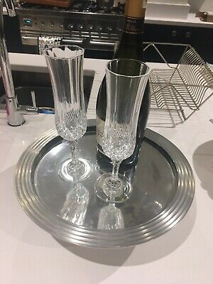 Stainless Steel Silver Footed Wedding Cake Stand Or Centre Piece Decoration