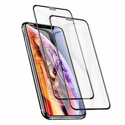 Full Cover Curved Edges Screen Tempered Glass For iPhone For iPhone XS MAX XR X
