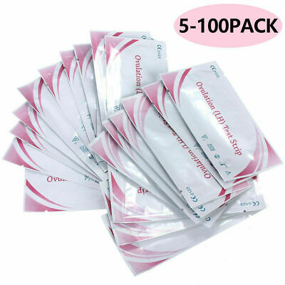 Lot 5-100PCS Ovulation (LH)Test Strips Fertility Early Predictor Home Urine Test