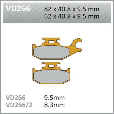 Vesrah VD Front Left Brake Pads VD266 CAN-AM Outlander 800 R  XT DPS 2011