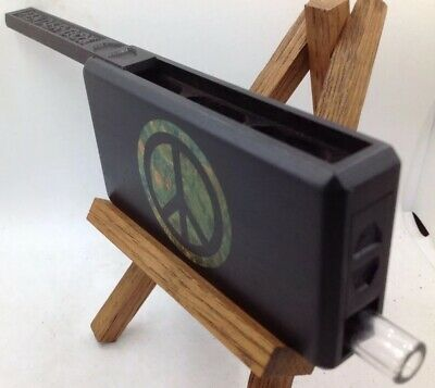 FENDER BOX (AFRICAN BLACKWOOD with Stab-Wood Burl Inlay) One Hitter Box/Dugout