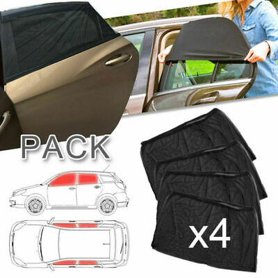 4Pcs Side Rear Window Screen Mesh Sun Shade Cover UV Protection For Truck Auto