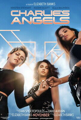 """002 Charlies Angels 2019 - Fighting USA Movie 24""""x35"""" Poster"""