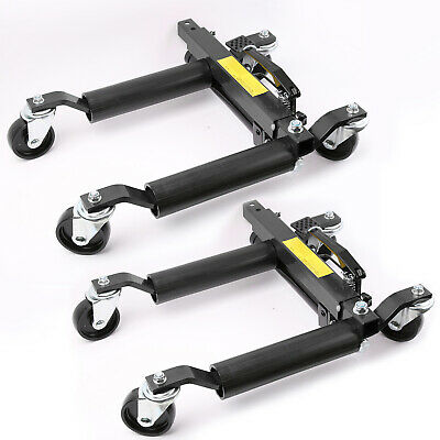 "2x 12"" Vehicle Positioning Jacks Hydraulic Car Wheel Dollies Go Jack 1500lbs Set"