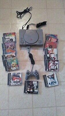 Sony Playstation 1 PS1 SCPH-5501 Console Controller 15 Game TESTED Clean WORKS!!