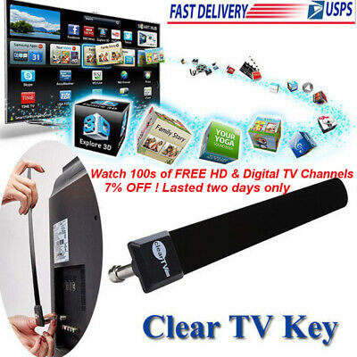 Clear TV Key 1080P HDTV 100 & FREE Digital TV Antenna Ditch Cable* Indoor US