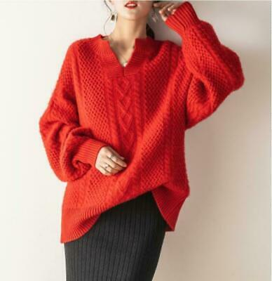 Women's Designer Inspired Cashmere Knitwear Pullover Sweater Oversized Tops Size