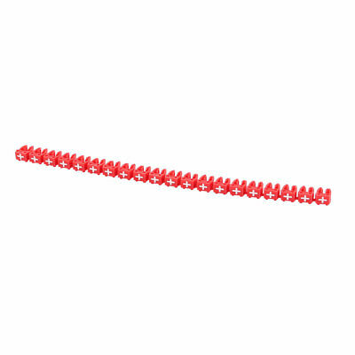 20 Pcs Letters + Network Cable Labels Markers Red for 3.0-4.0mm Dia Wire