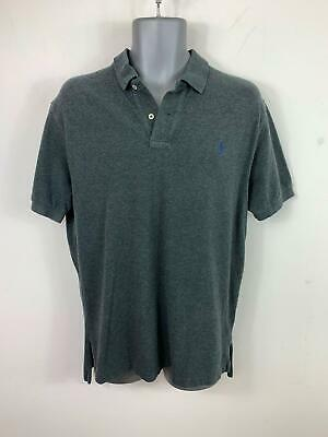 Mens Polo Ralph Lauren Smart/Casual Grey Short Sleeved Polo Shirt Size  L Large