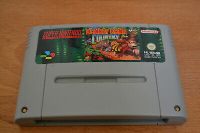 SNES Donkey Kong Country PAL Super Nintendo Mario Zelda Modul Cartridge Diddy
