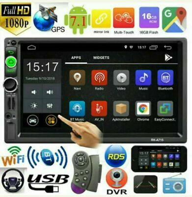 2Din 7in Touch Quad Core Android 7.1 GPS Navi RDS Car Stereo MP5 Player FMRadio