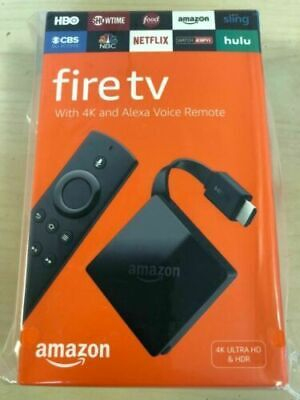 NEW Amazon - Fire TV with 4K Ultra HD and Alexa Voice Remote - Black  @