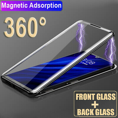 360° Full Tempered Glass Magnetic Adsorption Case Cover for One Plus 6 6T 7 Pro