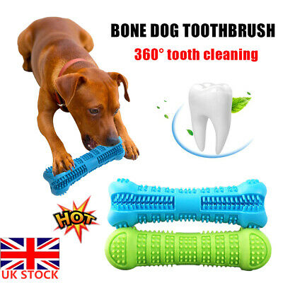 Pet Dog Bone-shape Toothbrush Brushing Chew Toy Stick Teeth Cleaning Oral Care K