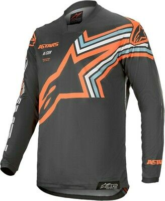 2020 Alpinestars Racer BRAAP Dark Grey Flo Orange Motocross MX Race Jersey Adult