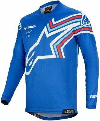 2020 Alpinestars Racer BRAAP Blue Off White Motocross MX Race Jersey Adult