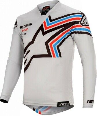 2020 Alpinestars Racer BRAAP Black Light Grey Motocross MX Race Jersey Adult