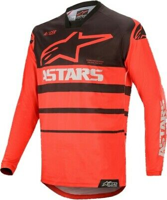 2020 Alpinestars Racer SUPERMATIC Bright Red Black Motocross MX Jersey Adult