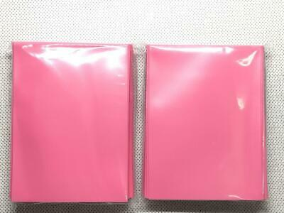 100pcs/Pack DECK PROTECTOR Card Sleeves 66mm*91mm Pink color + Glossy