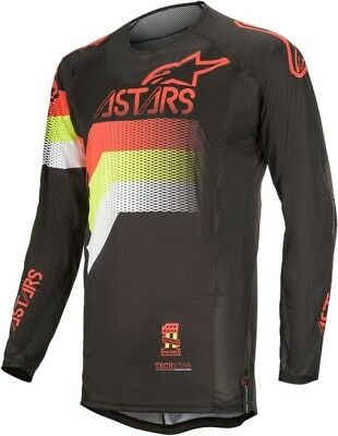 2020 Alpinestars Techstar Venon Black Flo Red Flo Yellow Motocross MX Jersey