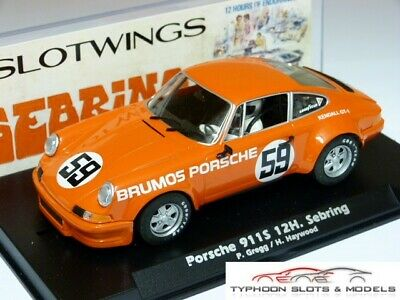 SLW036-02 Slotwings Porsche 911S - 12h Sebring - Gregg & Haywood - New & Boxed