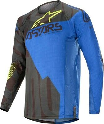 2020 Alpinestars Techstar Factory Black Dark Blue Motocross MX Jersey