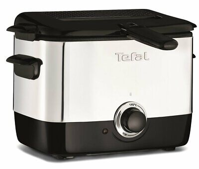 Tefal FF220040 Mini Deep Fryer, (2 Portions), 0.6 Kg Capacity, 1000 W, Stainless