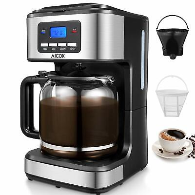 Coffee Maker, Aicok Filter Coffee Machine, 12 Cup Programmable Coffee Makers,
