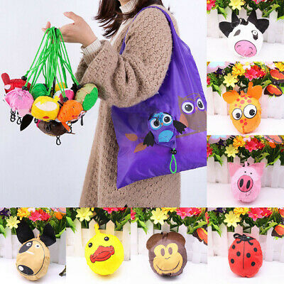 Cute Animal Grocery Folding Waterproof Pouch Reusable Shopping Bags Handbag Tote