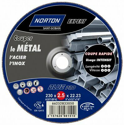 Norton Expert Hub Metal/Stainless Steel Cutting 230 x 3.2 x 22.2 mm