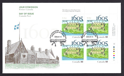 Canada   # 2115 URpb    PORT -  ROYAL 1605 - 2005     New 2005 Unaddressed